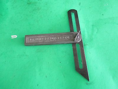vintage metal Universal USA sliding bevel square
