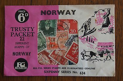 1940s postage stamps Norway - FG Series Trusty Packet - 22 stamps