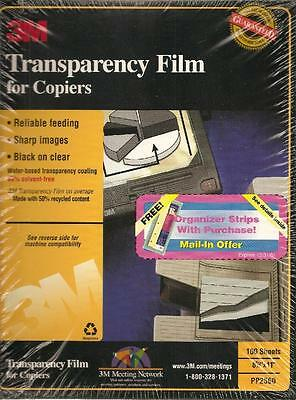 3M Transparency Film for Copiers PP2500, 100 Sheets - NEW/SEALED!