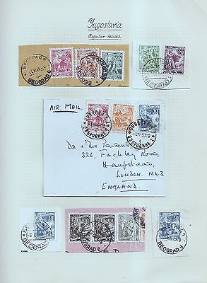 Yugoslavia 1950's BEOGRAD & Dubrovnic postmarks on covers/pieces  w7893
