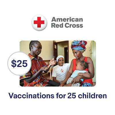 American Red Cross $25 Vaccinations for Children Symbolic Charitable Donation