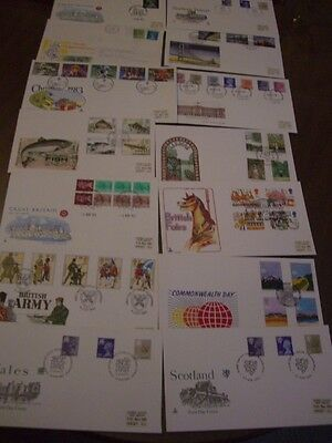GB  First Day Covers x 14 different from 1983 incl Regionals  SEE PHOTOS