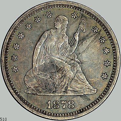 1878 25C (Proof) Liberty Seated Quarter Briggs 4-D, mintage of 800, See Discript