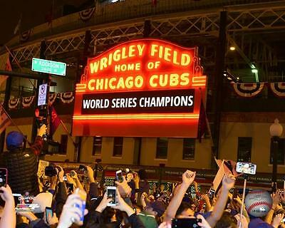 Wrigley Field GM7 Chicago Cubs 2016 World Series Champions Authentic 8x10 Photo