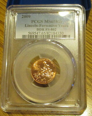 2009  Fy  Lincoln  Cent  Pcgs Ms65Rd   Ddr Fs-802