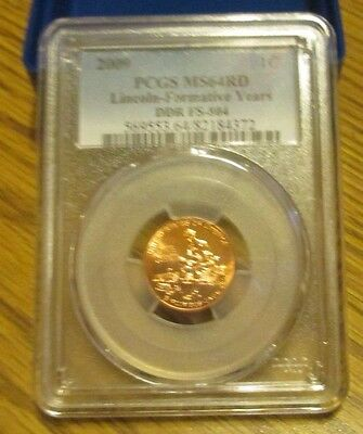 2009  Fy  Lincoln  Cent  Pcgs Ms64Rd   Ddr Fs-804