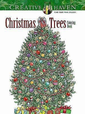 NEW - Creative Haven Christmas Trees Coloring Book (Adult Coloring)