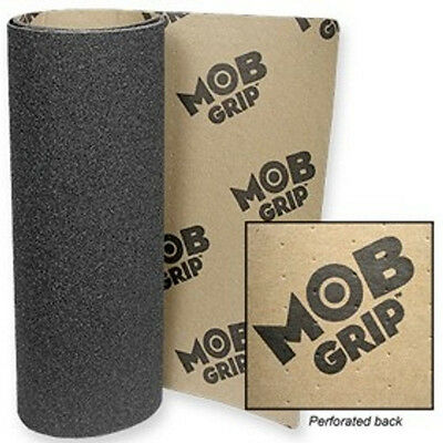 "New Sheet of Black MOB Perforated Skateboard Griptape / Grip Tape 9"" x 33"""