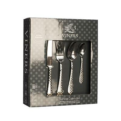 Viners Polka Dot 16 Piece Stainless Steel Cutlery Set In Gift Box