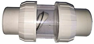 Non Return Clear Chamber Swing Check Flapper Valve 40mm for Swimming pools