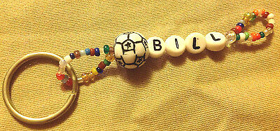 Boys Or Men's Personalized Keychain Or Zipper Pull With The Name Bill-New