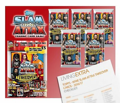 Topps WWE Slam Attax TAKEOVER - STARTER PACK with 48 Cards. Includes 2 x Limited