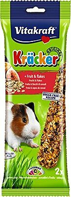 Vitakraft Kracker Guinea Pig Small Animal Food Fruit-Flakes, Pack of 5