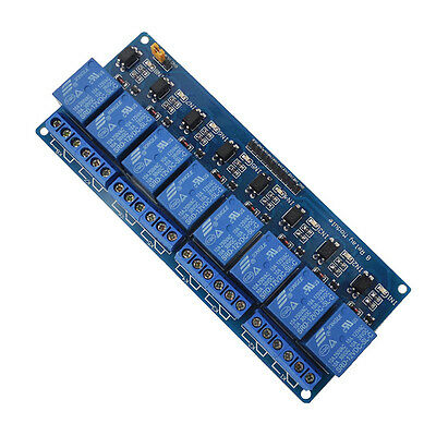 8 Channel Relay Shield Board Optocoupler Module  For Arduino UNO PIC AVR STM UK