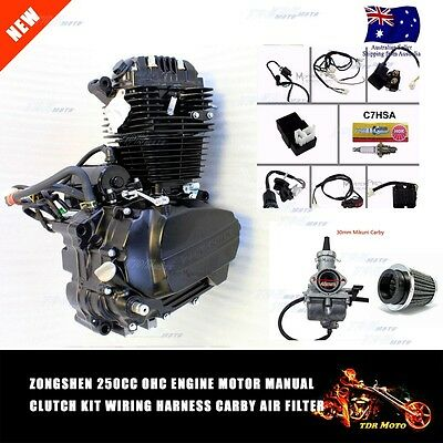 Zongshen 250cc OHC Engine Motor Wiring Harness Carby Air Filter For Dirt Bike