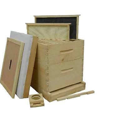 Complete 10 frame bee hive with frames and  wax coated foundations