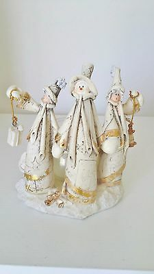 Snowman candle holder Christmas table decoration gift & Lantern Peace Joy B