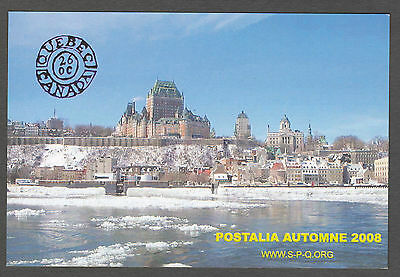 CANADA PICTURE POSTAGE POST CARD;  #2064;  Quebec City Winter time