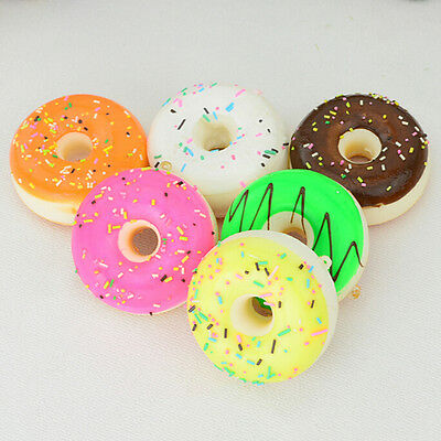 Kawaii Donuts Soft Squishy Colorful Cell phone Charms Chain Cute Strap Pop FT