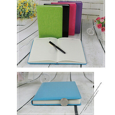 5 Color Stylish Business A5 Pu Leather Cover Notebook Loose-leaf Blank Journals