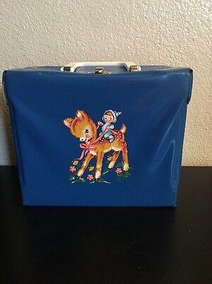 Blue Fawn Vinyl Lunchbox Made By Neevel