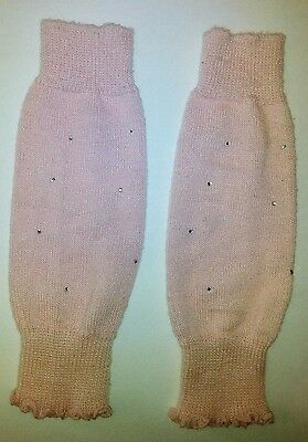 Pink LegWarmers/Boot Cuffs with Rhinestones Very Pretty!  EUC Ballet/Boot Bling