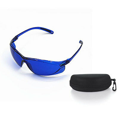 Portable Safety Red Laser Protection Goggle IPL Blue Glasses Spectacles w/ Box