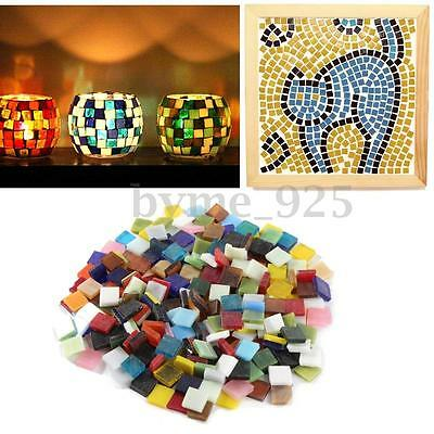 200g/Pack 1cm Home Decoration Mixed Color Tumbled Stained Glass Mosaic Tiles