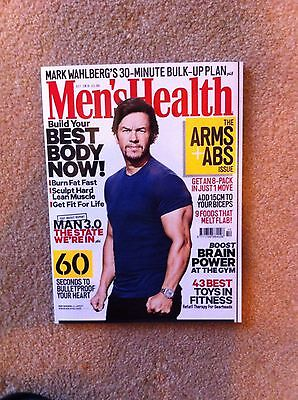 Mens Health Magazine - Mark Wahlberg Cover - October 2016 - Arms - Abs - NEW!