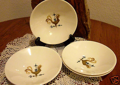 "Set of 4 Edwin Knowles Weather Vane Rooster Berry Small Bowls 5 1/2"" Diameter"