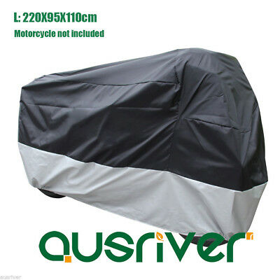 210D Motorcycle Cover Waterproof Dustproof Elastic Edge for Honda L 220x95x110cm