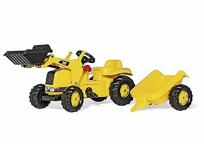 Rolly Kid Caterpillar Tractor with Frontloader and Trailer