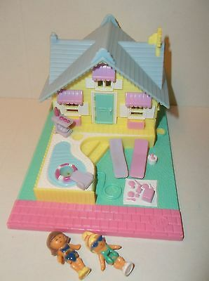 Vintage Polly Pocket 1993 Summer house 100% Complete Excellent Condition