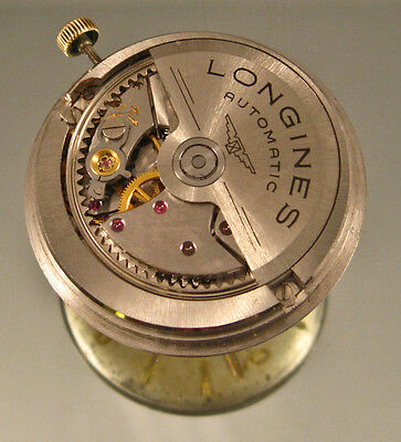Longines 340 automatic watch movement flagship dial and gold hands working swiss