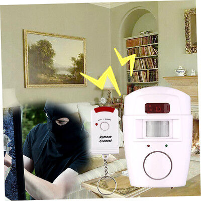 New Pir Motion Sensor Home Shed Burgular Alarm System Wireless Security Kit GH