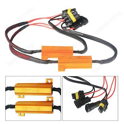 2x HB4 9006 LED Headlight DRL Fog Light Load Resistors Wiring Harness Canbus