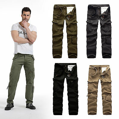 Military Army camouflage & plain Trousers Tactical Airsoft Work Camo Pants Cargo