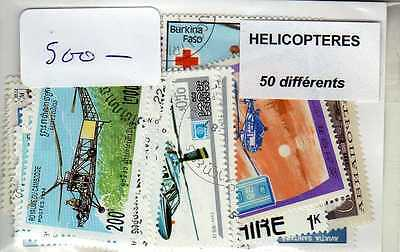 HELICOPTERES 50 timbres différents