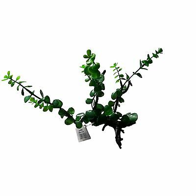 Plant On Wood Natural Look Artifical Aquarium Decor Plant