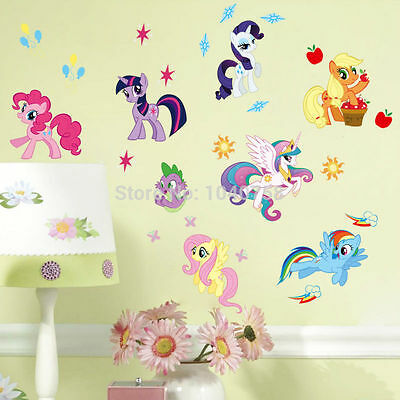 UK MY LITTLE PONY 8 BIG WALL STICKERS! FREE 1 DAY DELIVERY!**CUTIE MARKS** Decal