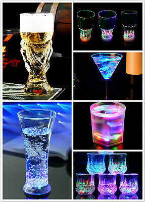 Water Activated Color Change Flash Light LED Whisky/Wine Cup For Bar Club Party