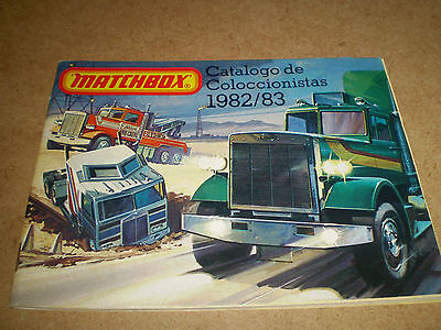 Rare Matchbox Toy Catalogue 1982/83 Spanish Edition Excellent Condition For Age