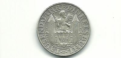 Germany Weimar Republic 1928D 3 Reichsmark  Silver Coin