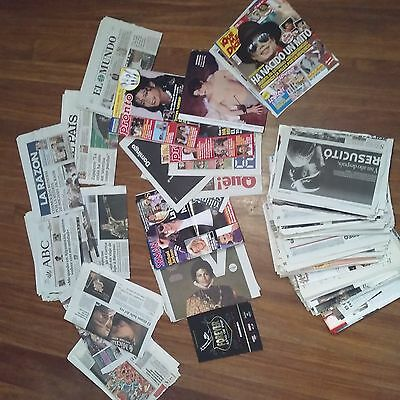 MICHAEL JACKSON clippings & cuttings & front covers -magazines & newspapers