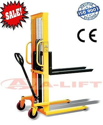 Adjustable Fork Hand Stacker. Lifting Weight 2000 KG + Lifting Hight 1600 mm