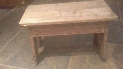 """Small Antique Pine Stool 13""""high 22.5""""long x 11""""wide"""