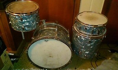 Vintage Drum Kit Shell Pack Possibly Canora, Pearl, Premier? Pick Up Doveton