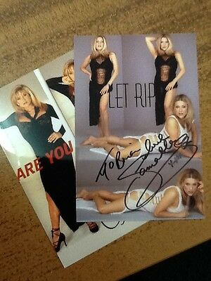 Samantha Fox --2 coloured signed photos sent personally to me