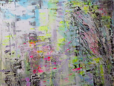 """Original  Acrylic Oil  Painting On  Stretched  Canvas  Abstract Woman 16 X 20"""""""