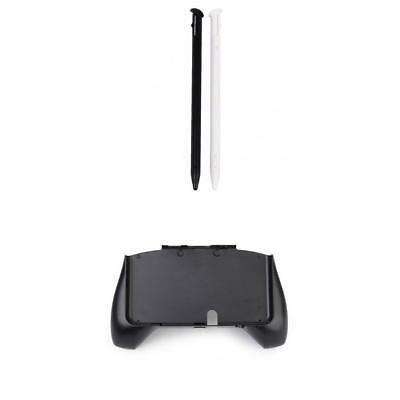 Hand Grip Controller Holder + 2Pcs Stylus Touch Pen for NEW Nintendo 3DS